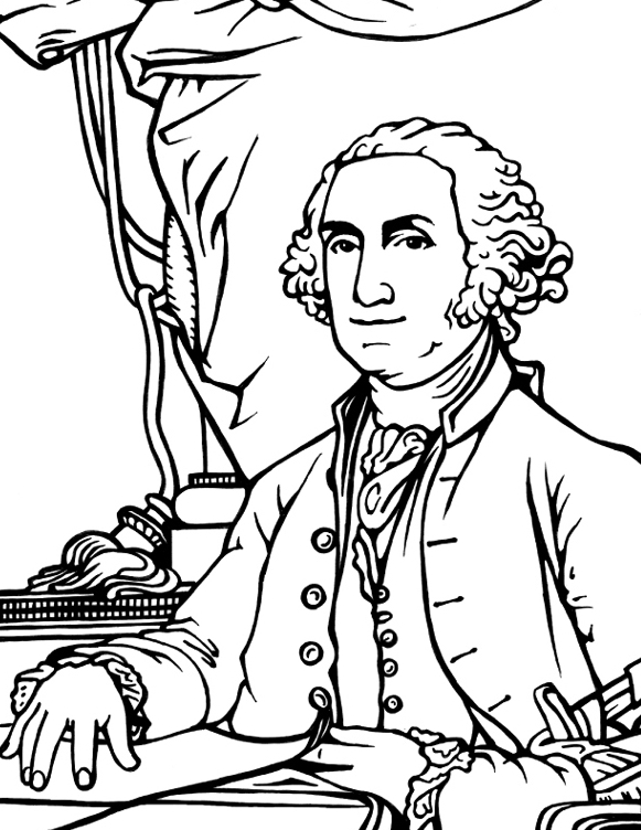 george washington coloring page - george washington coloring page