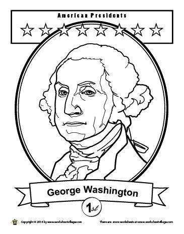 george washington coloring page -
