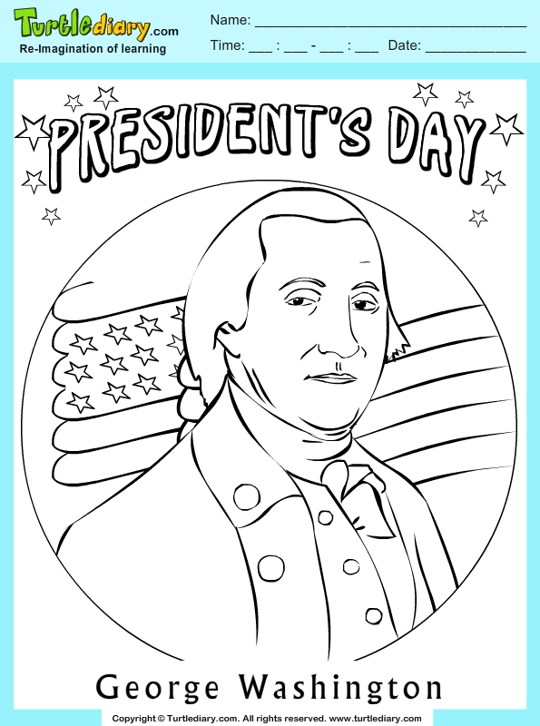 george washington coloring page - coloring page of george washington