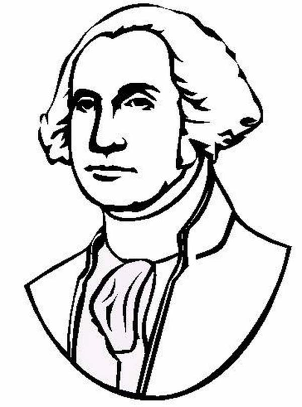 george washington coloring page - revolutionary war pictures for kids