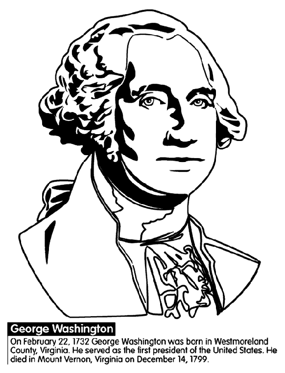george washington coloring page - us president george washington coloring page
