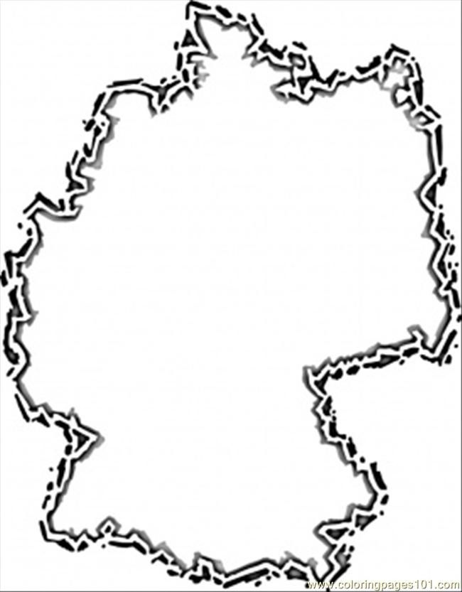 germany coloring pages - printable map of germany