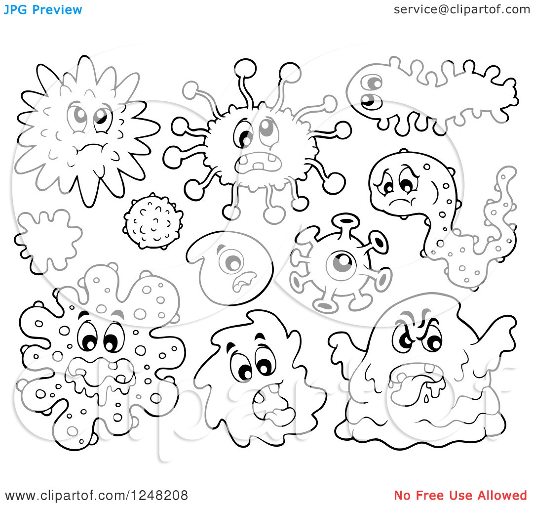 Germs Coloring Pages - Pin Bacteria Coloring Worksheet On Pinterest