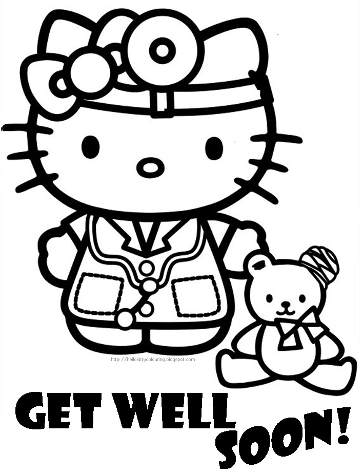 get coloring pages - hospital well soon coloring page of
