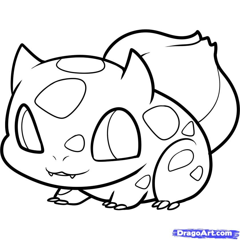 get well coloring pages - how to draw chibi bulbasaur bulbasaur step 7