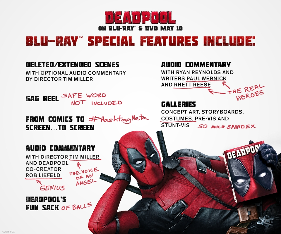 get well soon coloring pages - deadpool blu ray release date special features