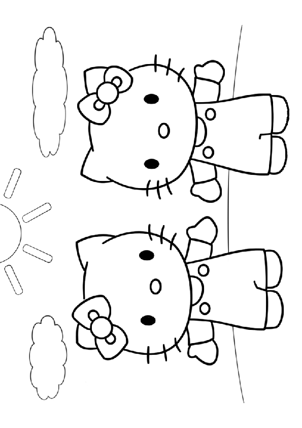 get well soon coloring pages - hello kitty kolorowanka 30