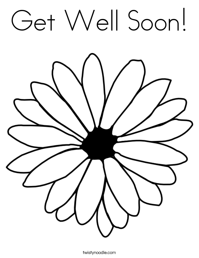 get well soon coloring pages - printable well soon coloring pages
