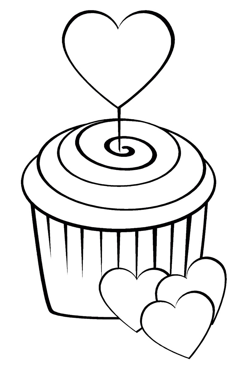 get well soon coloring pages - sweets coloring pages