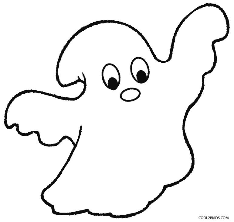 Ghost Coloring Pages - Printable Ghost Coloring Pages for Kids