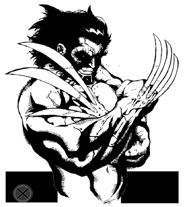 ghost rider coloring pages - Marvel s Wolverine angry