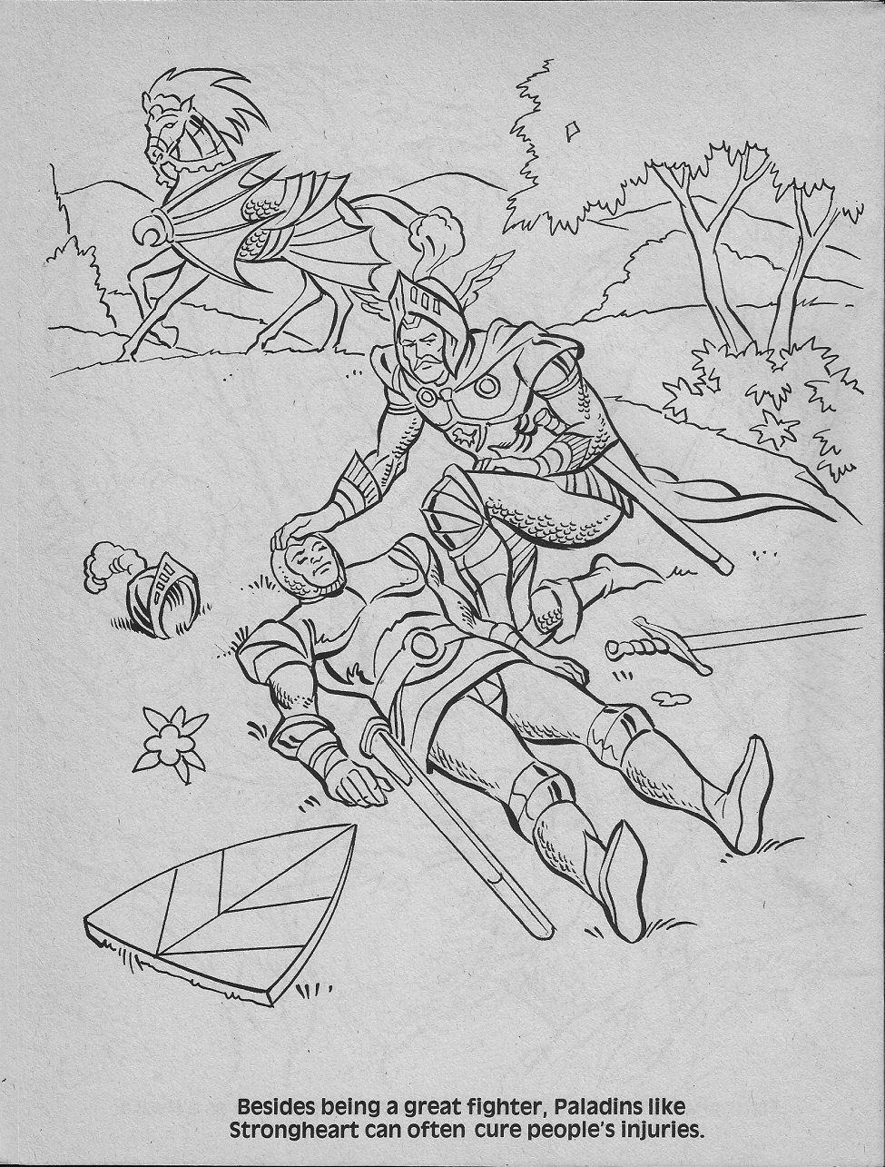 ghostbusters coloring pages - advanced dungeons dragons characters coloring book 1983 part two