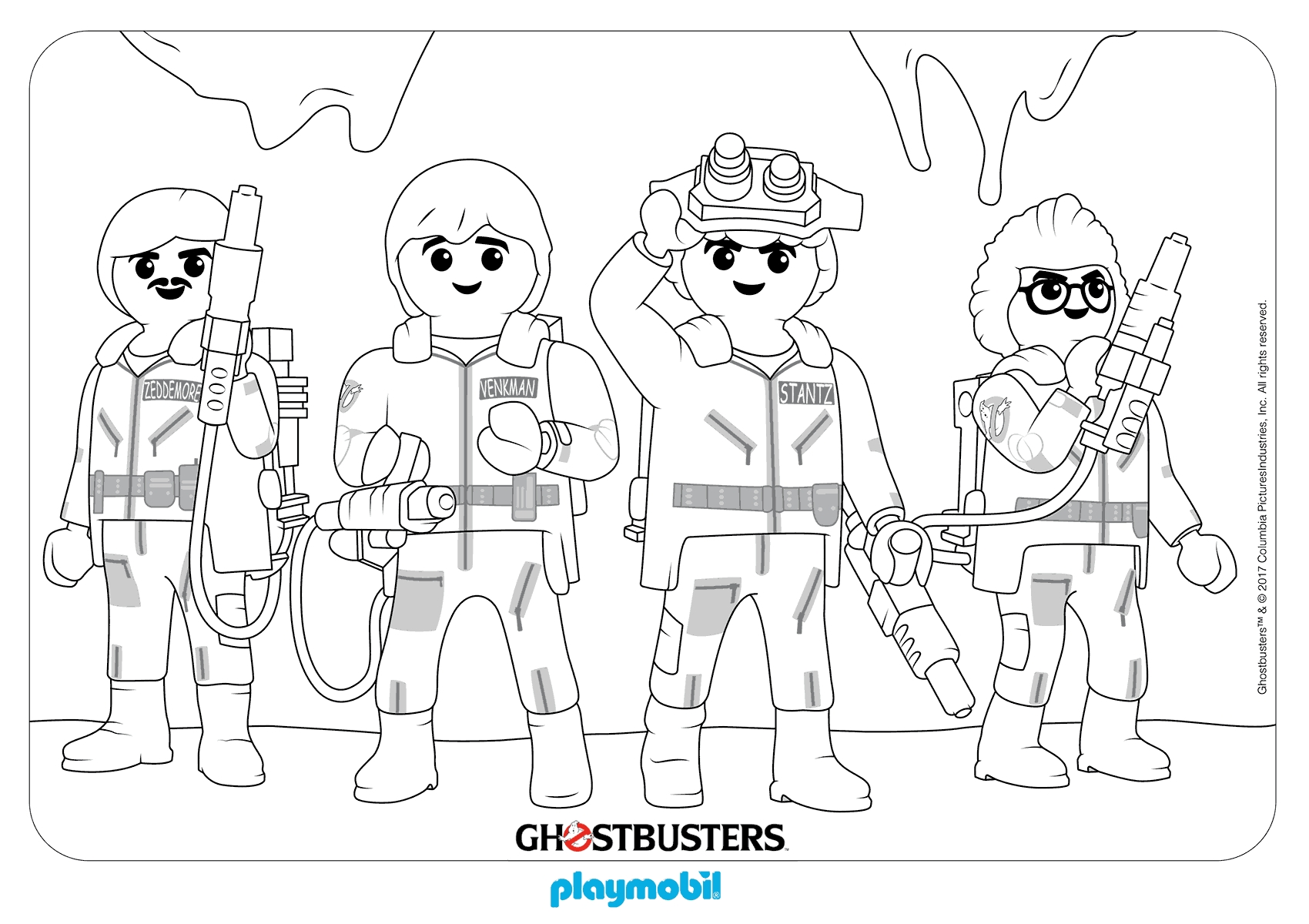ghostbusters coloring pages - playmobil coloring pages