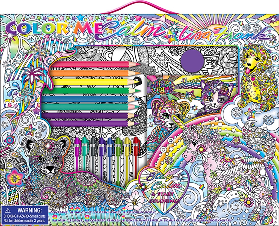 giant coloring pages for adults - dollar general and lisa frank launches two new adult coloring posters just in time for the holidays