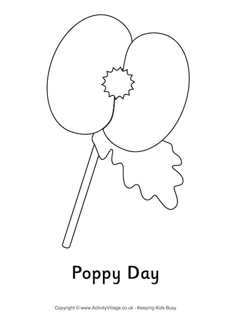giant coloring pages for adults - poppy day colouring page