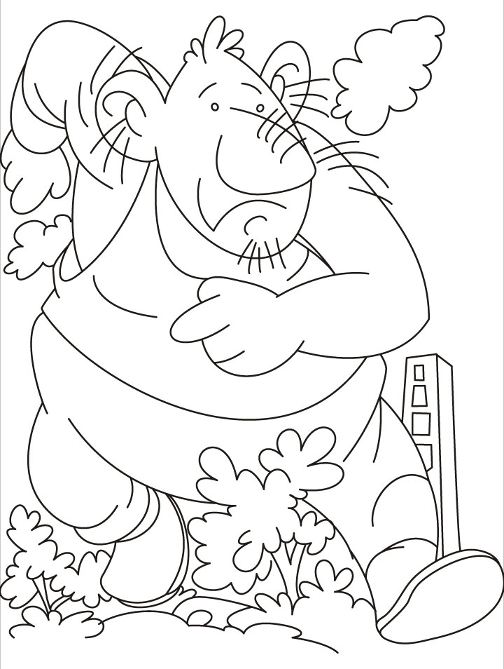 giant coloring pages - giant firefighter coloring pages 1d2847