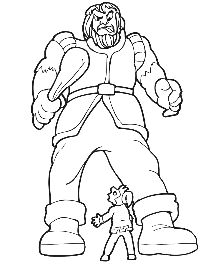 giant coloring pages - jack facing giant