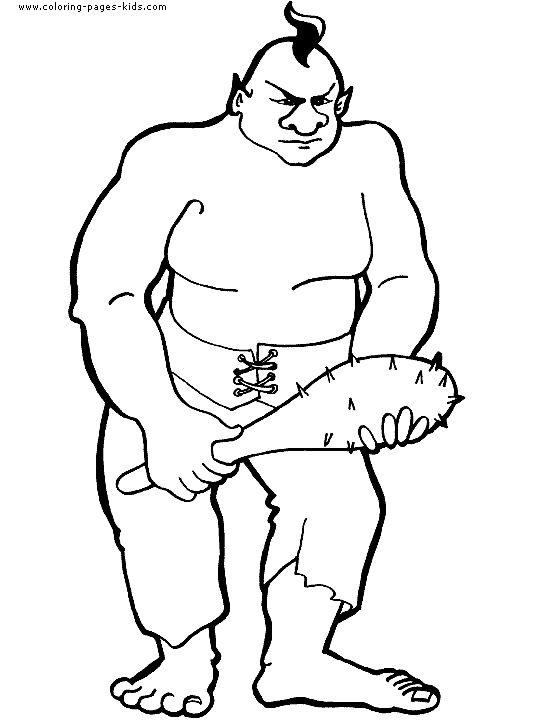 giant coloring pages - troll giant coloring page 08