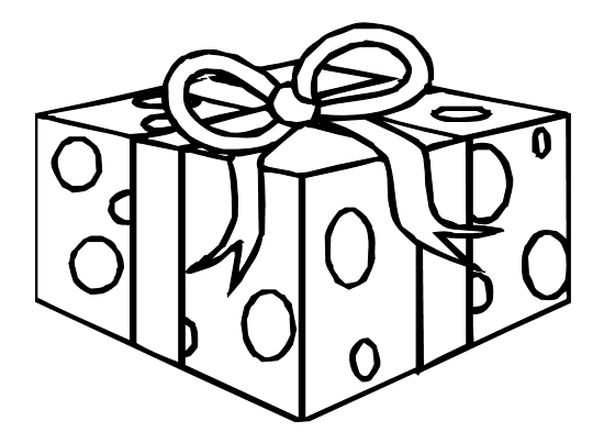 gift coloring page - coloringpages birthday ts