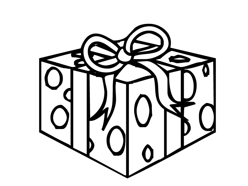 gift coloring page - presents