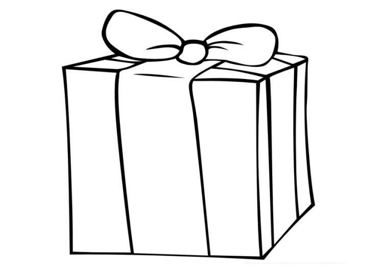 gift coloring page - ribbon t box coloring pages