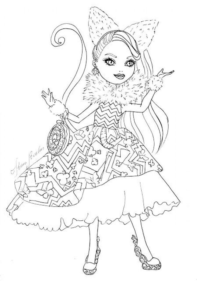 gingerbread coloring pages - royal rebels ever after high girl coloring pages printable uhb66