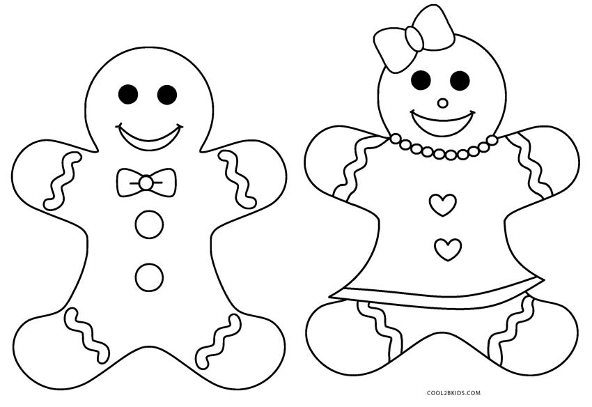 gingerbread girl coloring pages - gingerbread man coloring pages