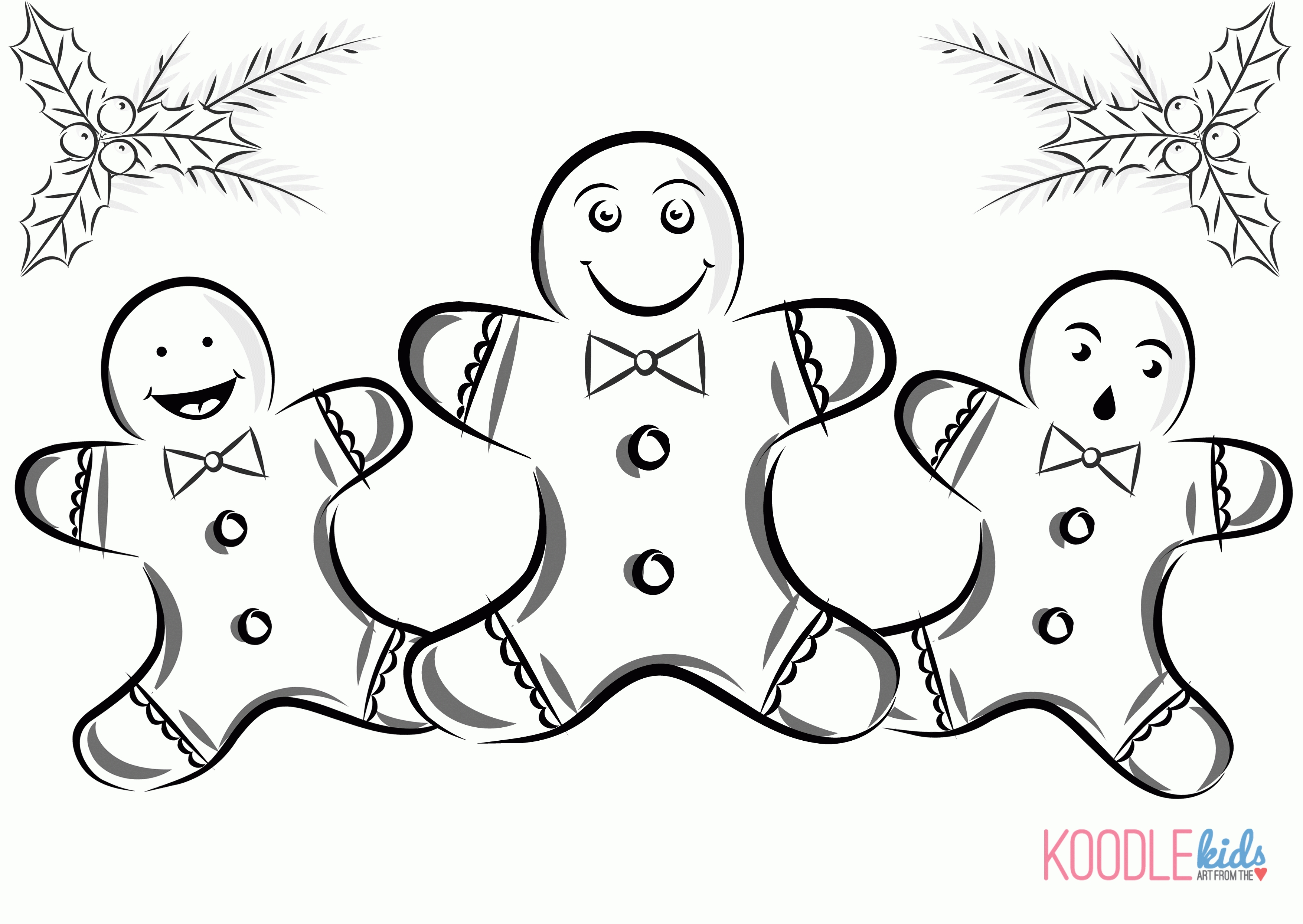 53 Gingerbread Boy And Girl Coloring Pages , Free HD Download