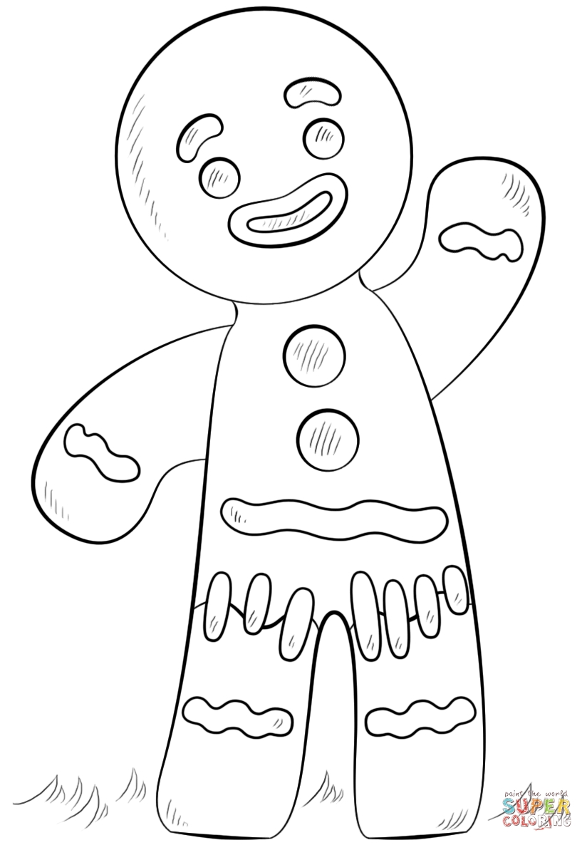 gingerbread girl coloring pages - gingerbread boy and girl coloring pages