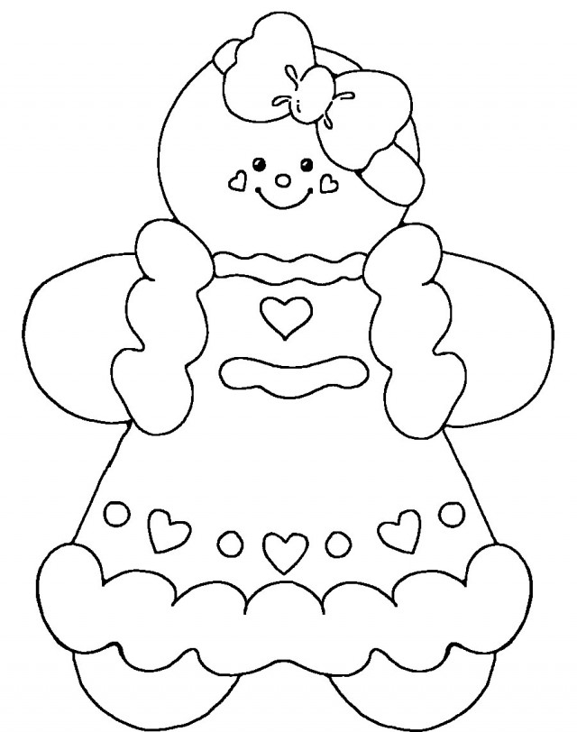 gingerbread girl coloring pages - gingerbread girl coloring page
