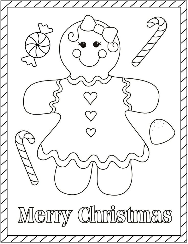 gingerbread girl coloring pages - gingerbread girl coloring pages