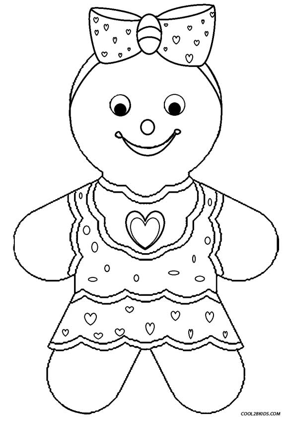 Gingerbread Girl Coloring Pages - Printable Gingerbread House Coloring Pages for Kids