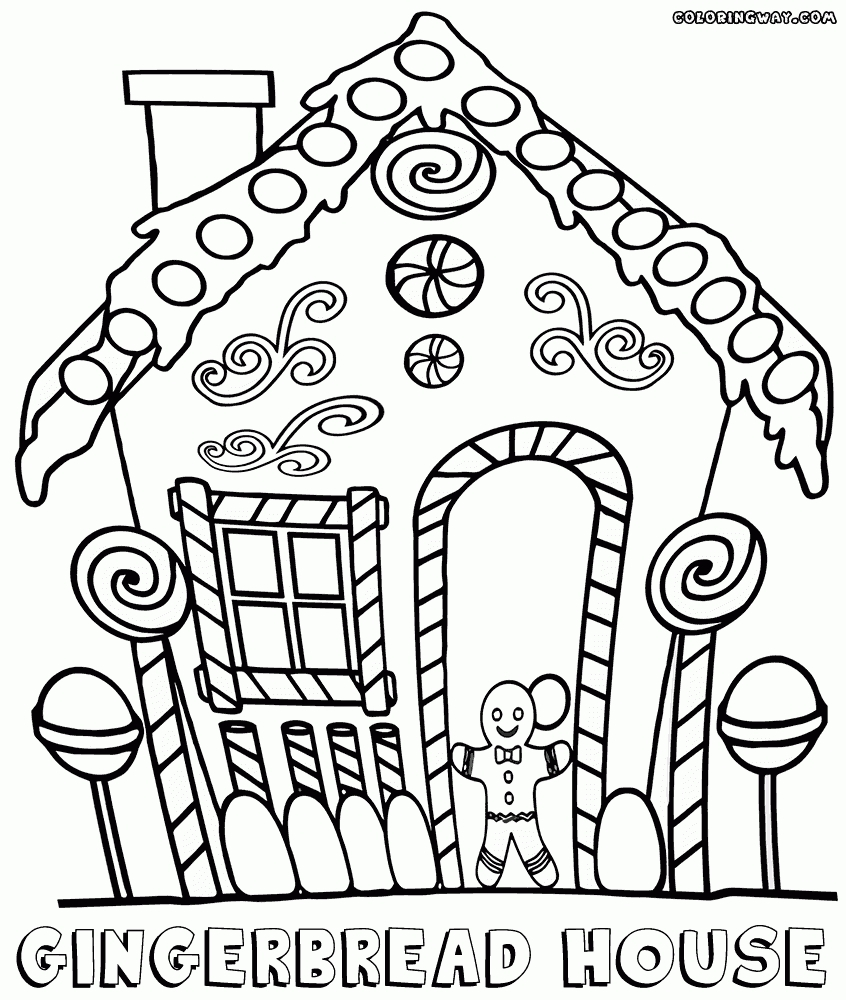 gingerbread house coloring pages - gingerbread house coloring page