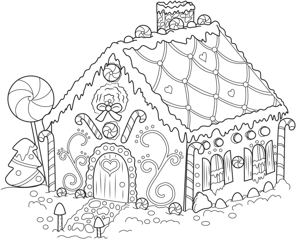 gingerbread house coloring pages - gingerbread house coloring sheet sketch templates