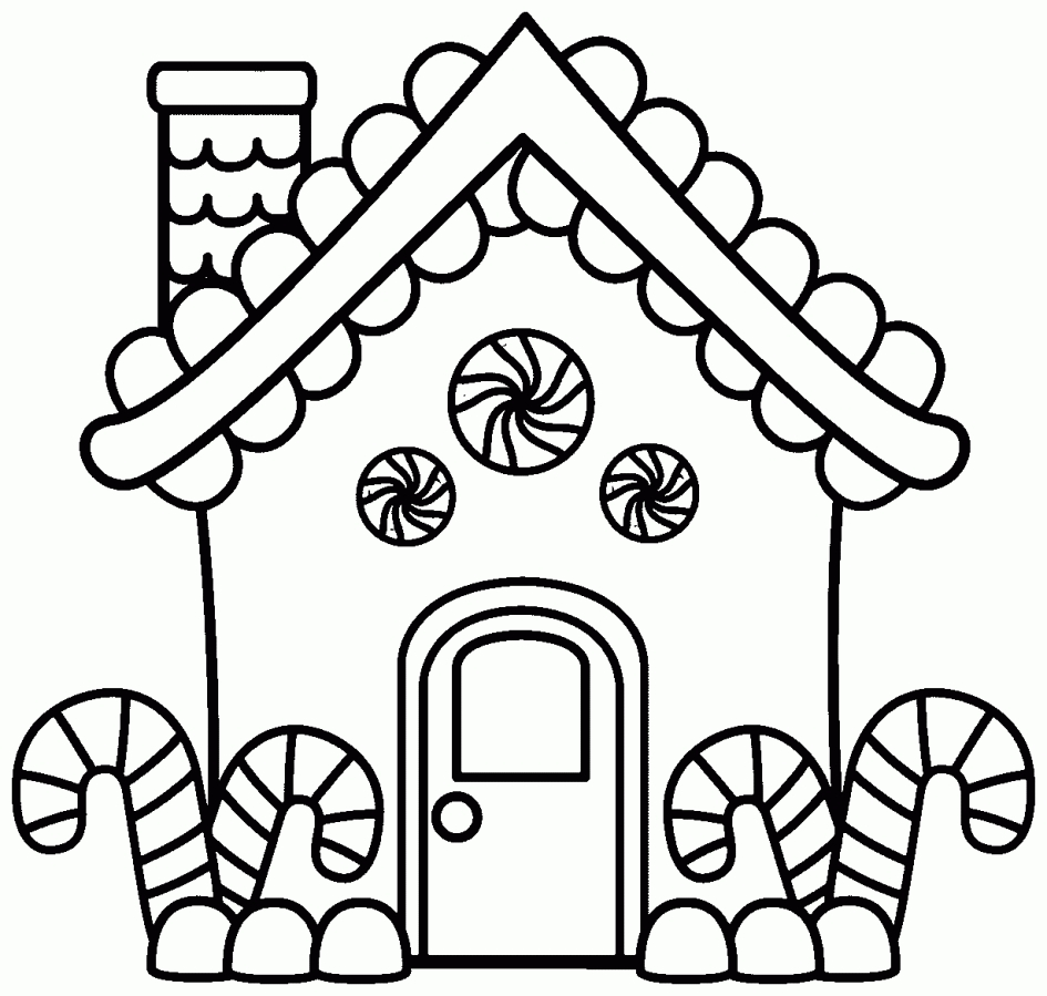 gingerbread house coloring pages - merry christmas with gingerbread house coloring pages