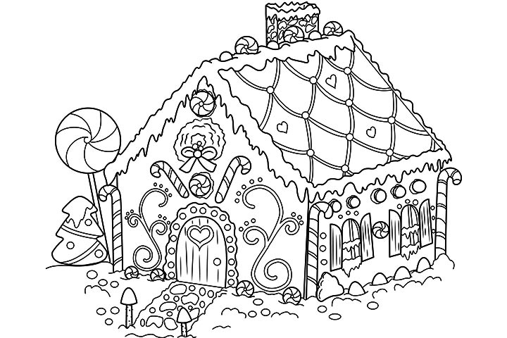 gingerbread house coloring pages - gingerbread house coloring pages