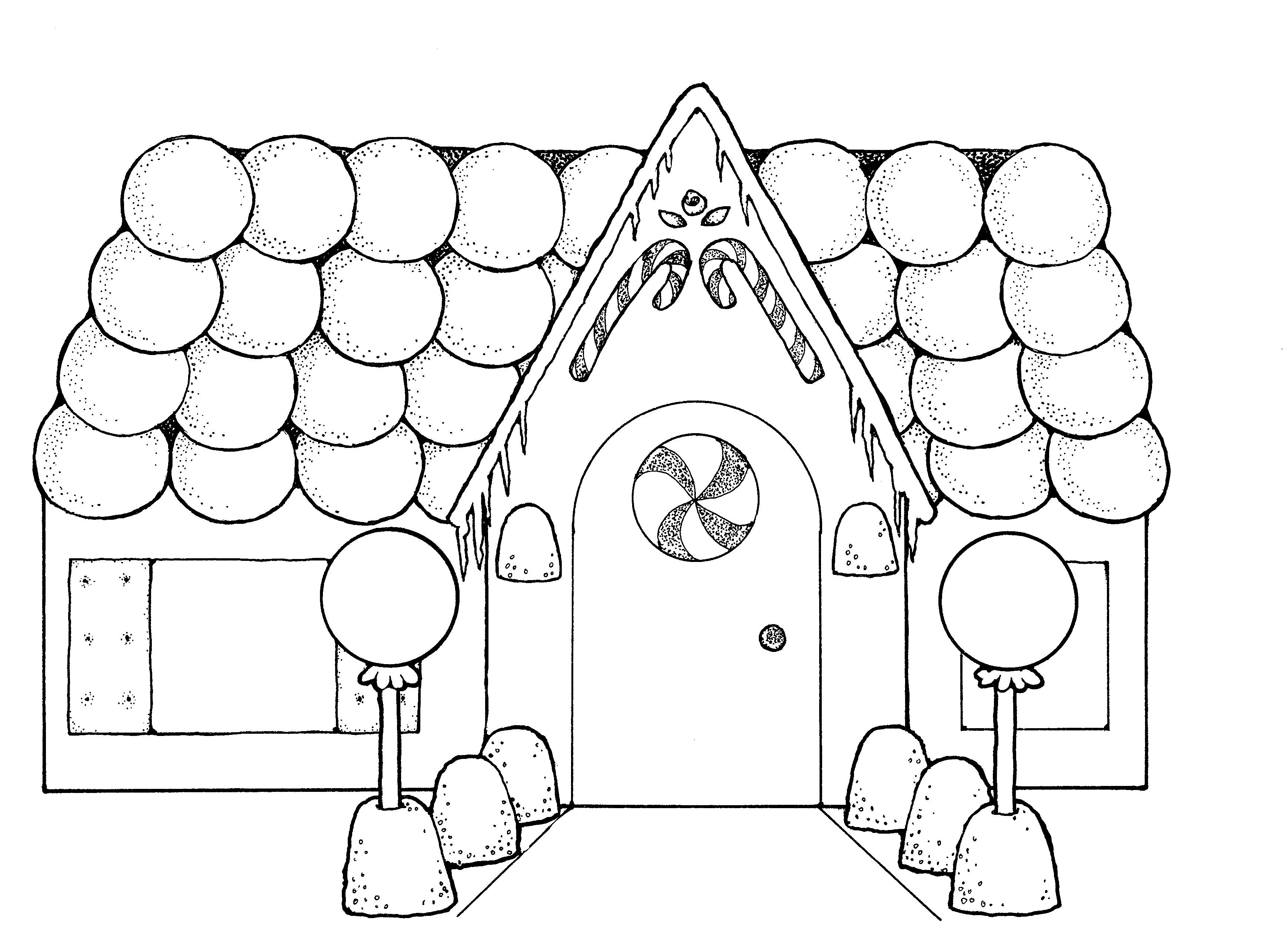 gingerbread house coloring pages - gingerbread houses coloring pages