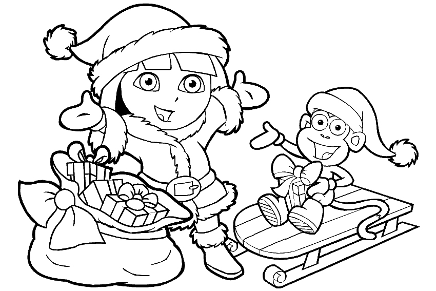 gingerbread man coloring page - dora coloring pages