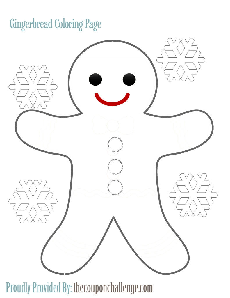 gingerbread man coloring page - gingerbread man coloring page