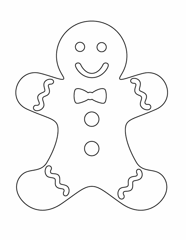 gingerbread man coloring page -