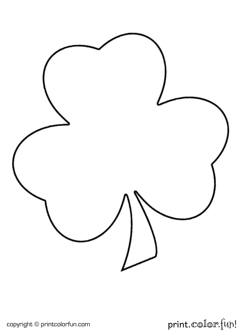 gingerbread man coloring page - shamrock for st patricks day