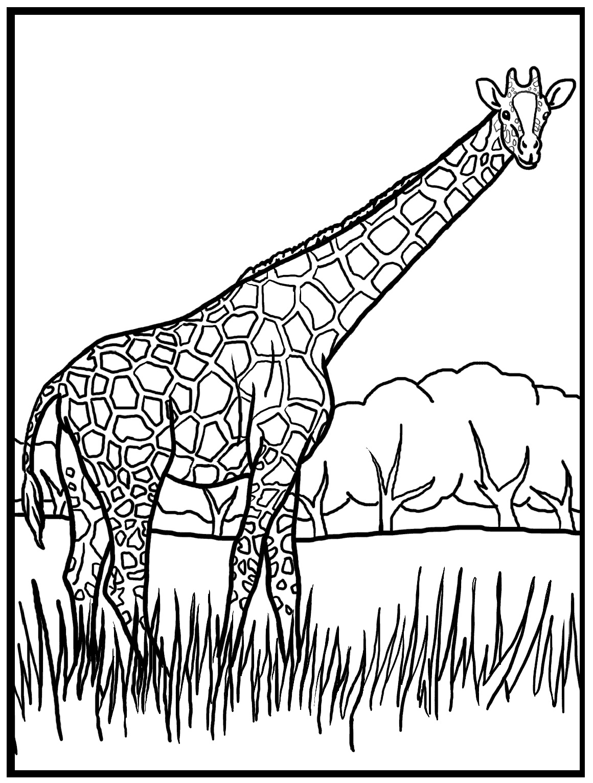 Giraffe Coloring Pages - Giraffe Coloring Pages – 9 Coloring