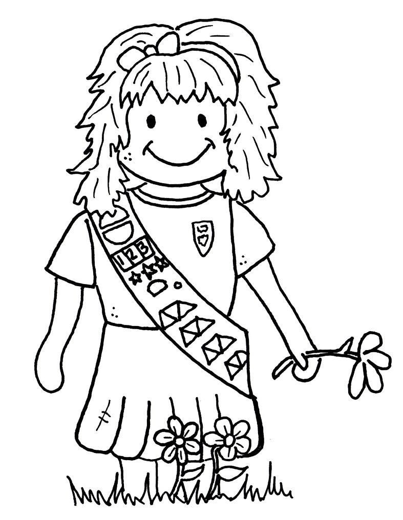 25 Girl Scout Coloring Pages Compilation | FREE COLORING PAGES - Part 2