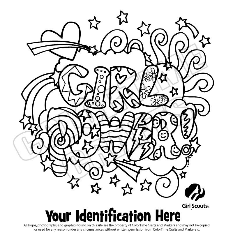girl scout coloring pages -