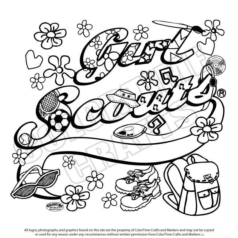 girl scout coloring pages - girl scouts coloring pages