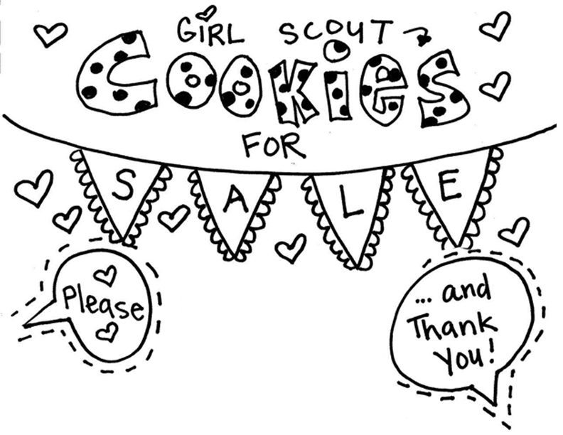 girl scout cookie coloring pages - brownie girl scouts coloring pages