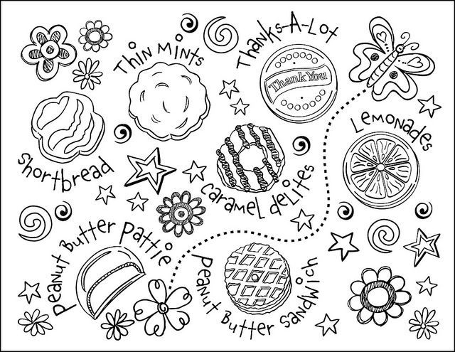 Girl Scout Cookie Coloring Pages - Girl Scout Cookie Coloring Page Girl Scouts