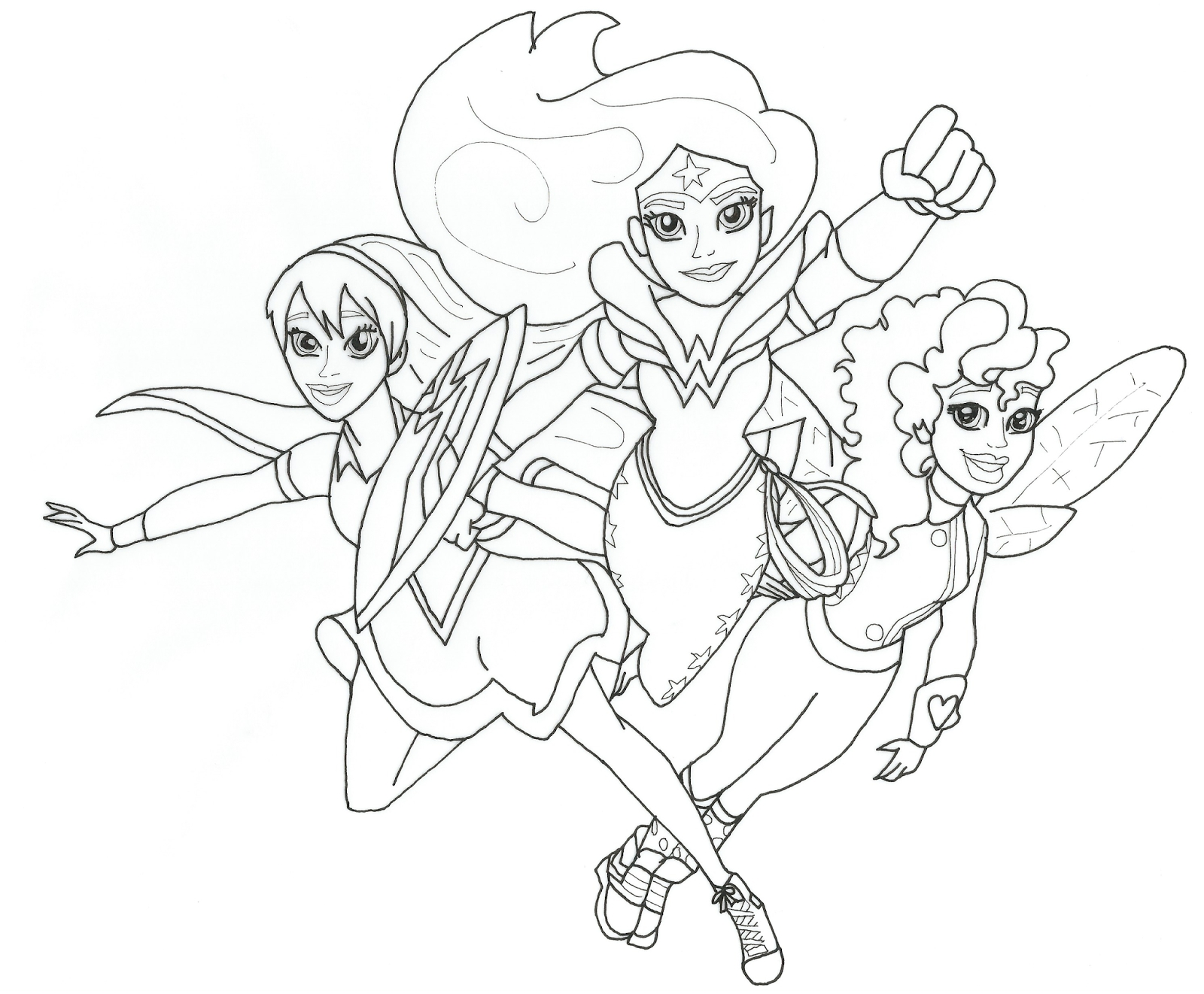 girl superhero coloring pages - dc super hero girls free printable