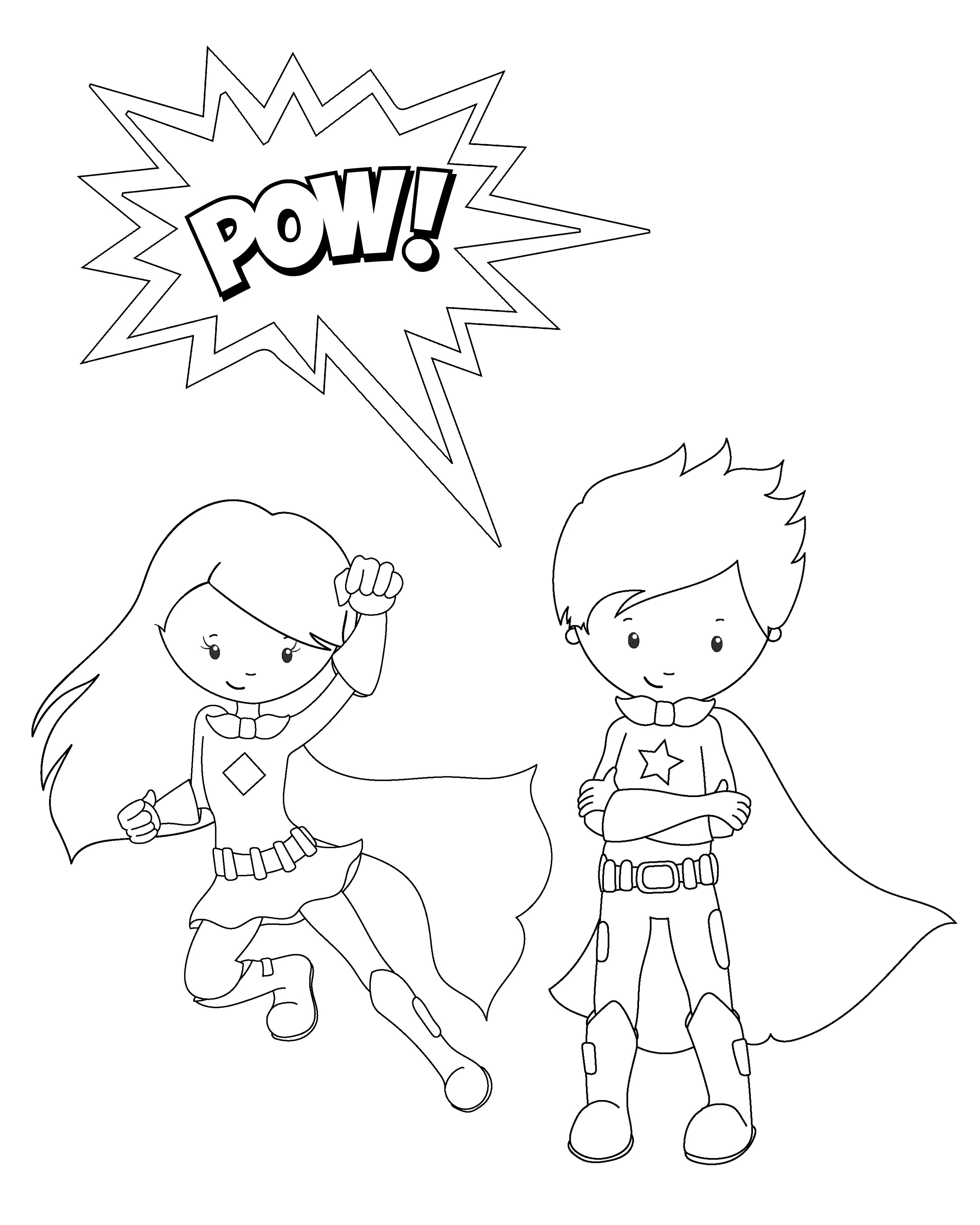 girl superhero coloring pages - superhero coloring pages