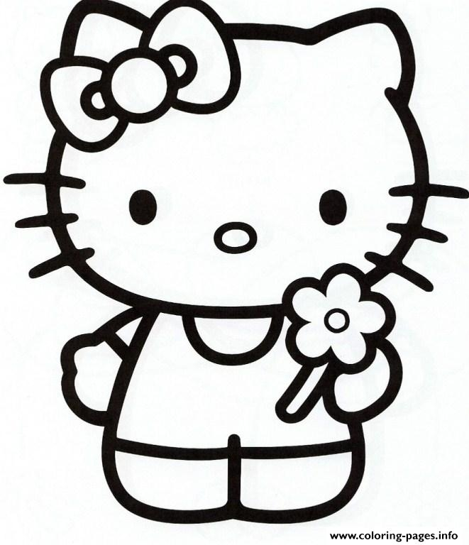 girly coloring pages - girly hello kitty e981 printable coloring pages book 6584